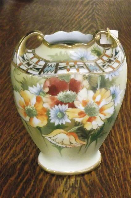 Nippon Vase Hand Painted Parkway Drive Antiques
