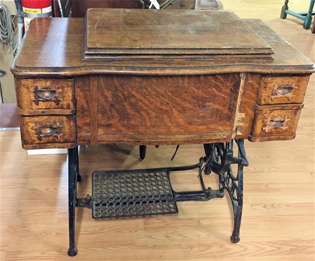 PROJECT – White Treadle Sewing Machine Cabinet - PROJECT - White Treadle Sewing Machine Cabinet - Parkway Drive Antiques