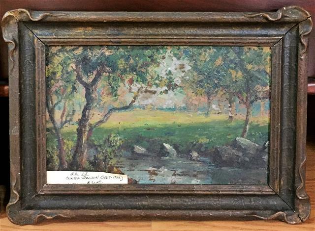 Clinton Johnson Painting Landscape Parkway Drive Antiques